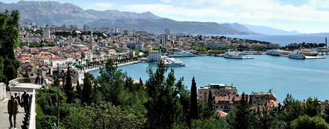 Grad Split, pogled s Marjana